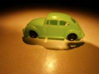 Volkswagen Kever model, groen, 7 cm,