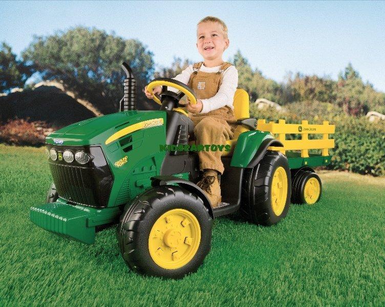 Stoere Accu Tractor Met Aanhangwagen 12 Volt Te Koop