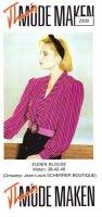 Origineel naaipatroon zijden damesblouse  Z830-3