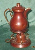 Speelgoed antiek  koperen koffiepotje op