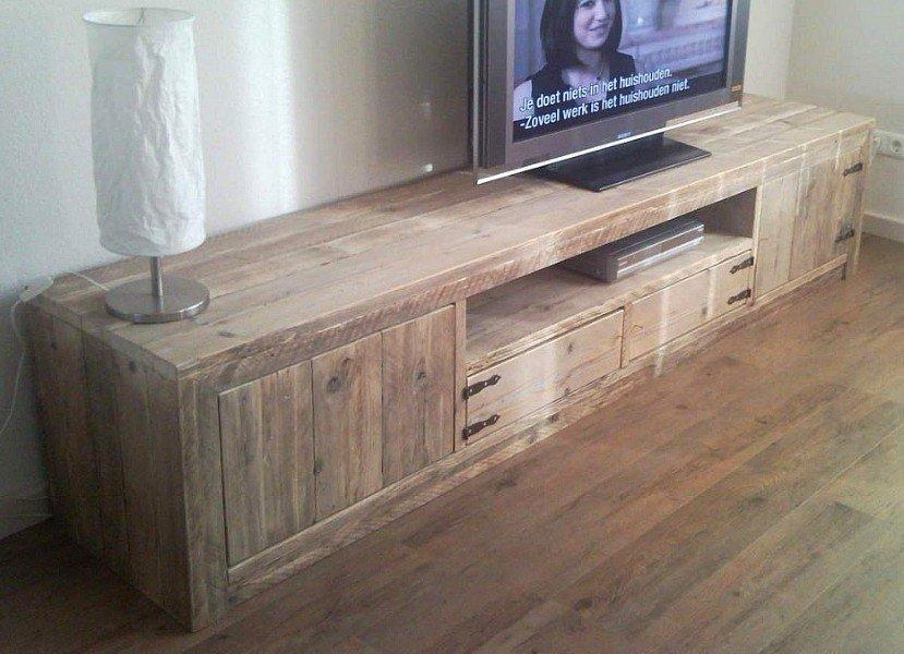Tv Kast Hangend : Zwevend hangend tv meubel steigerhout steigerhouten tv kast te