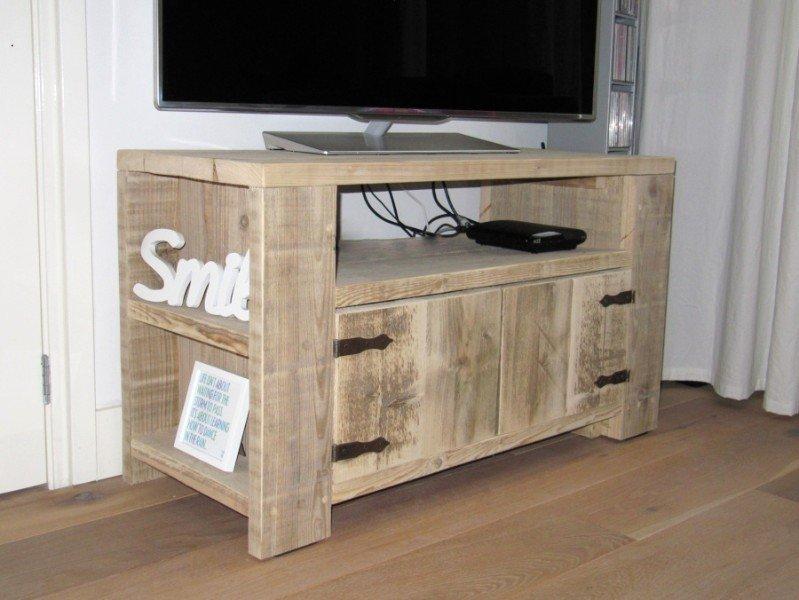 Steigerhout Tv Kast : Zwevend hangend tv meubel steigerhout steigerhouten tv kast te