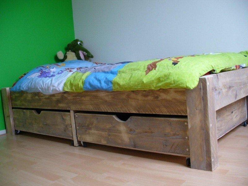 Bol steigerhouten bed houten bed kinderbed