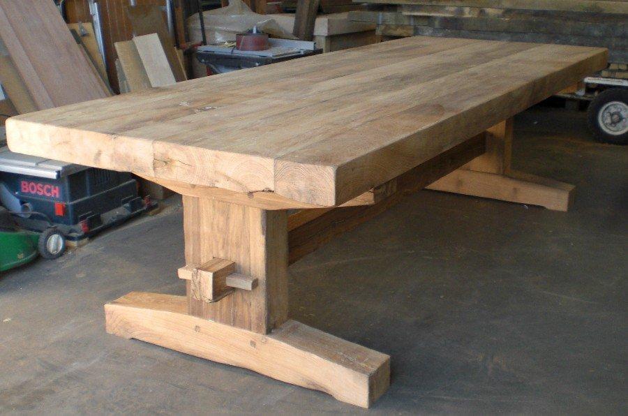 Eikenhouten tafel oud maken tafels van oud hout nieuws