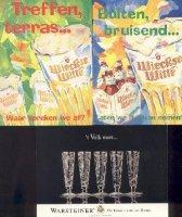 Biermerken op publicitaire kaart x 10