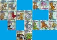 Petit-Gervais Danone dieren-sjabloon glitter magneet x