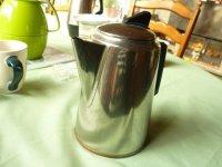 Inox Koffiekan met koperen bodem