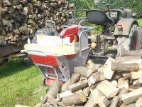 Brandhout afkortzag Collino op aftakas aandrijving