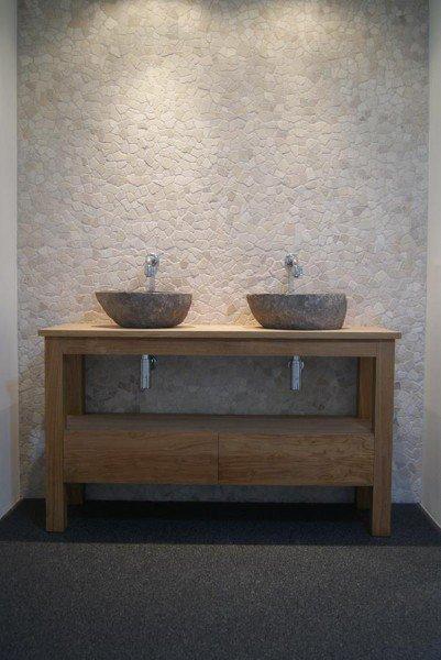 Wasbak Badkamer Natuursteen : Wasbak waskom riverstone riviersteen natuursteen badkamer te koop