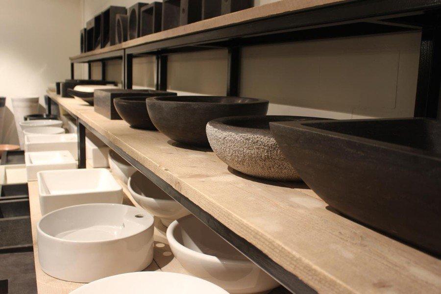 Granieten Wasbak Badkamer : Wasbak waskom riverstone riviersteen natuursteen badkamer te koop