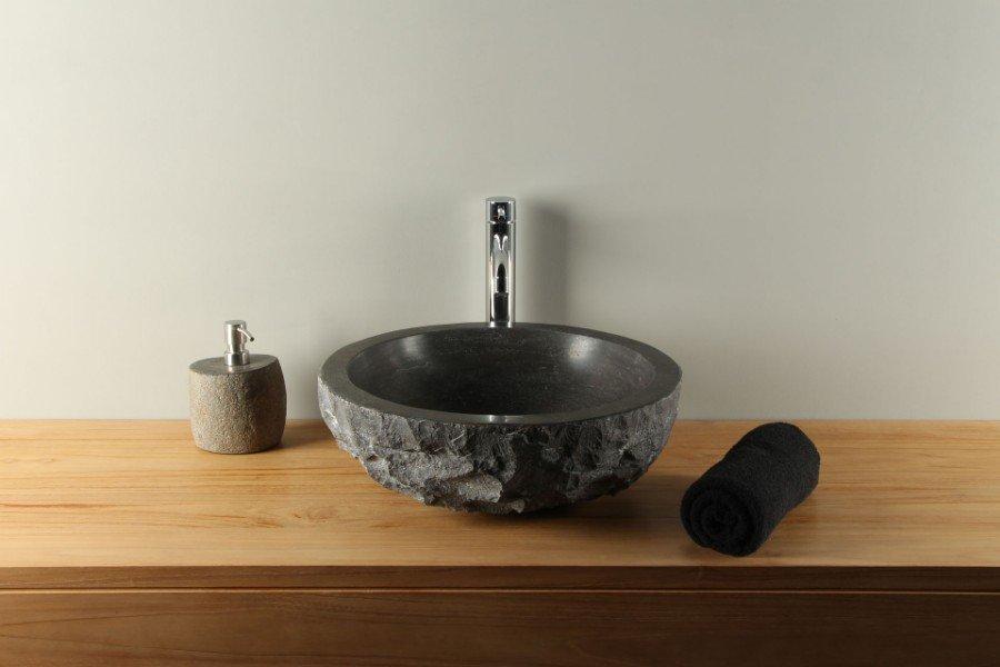 Hardsteen hardstenen wasbak waskom wastafel natuursteen te koop