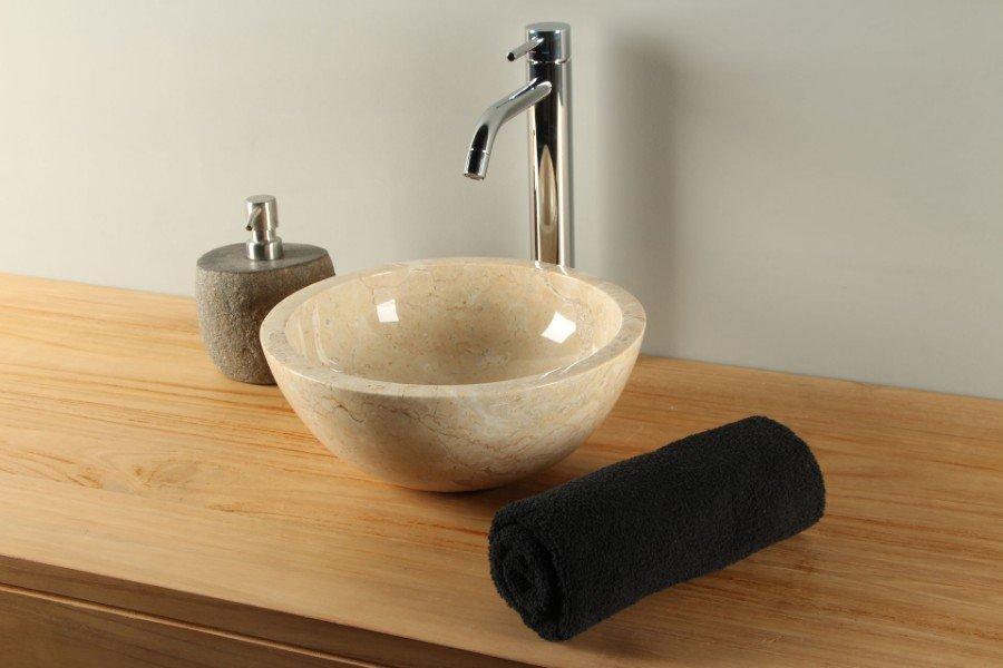 Wasbak marmer marmeren waskom wastafel natuursteen badkamer te
