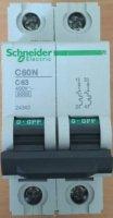 Automaat 63A/6kA  2Polig DIN-Rail