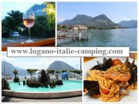 Vakantie aan meer van Lugano, Italie,