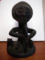 Antiek oud afrikaans beeld