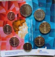Eerste Euromunten 2014 Koning Willem-Alexander