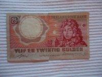 DNB Bankbiljet Vijf en Twintig Gulden