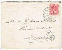 Twee brieven 1915-16 van Gouda naar