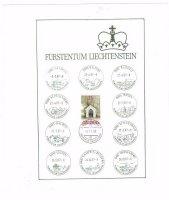 Furstentum Liechtenstein Blad met postzegel 25
