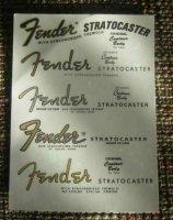 Aangeboden: Setje stratocaster restoratie waterslide decals € 12,50
