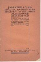 Jaarverslag 1924 Bond technische ambtenaren