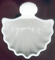 Avon zeepschaaltje: schelp in opaline van
