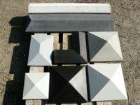 Betonhoedjes, kolomafdekkers, betonpetten, muurafdekkers