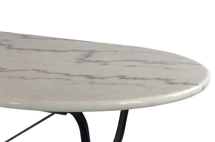 Marmeren Tuintafel Met Gietijzeren Onderstel.Ovaal Marmeren Terrastafel Met Gietijzer Onderstel 120x60cm Bistrotafel