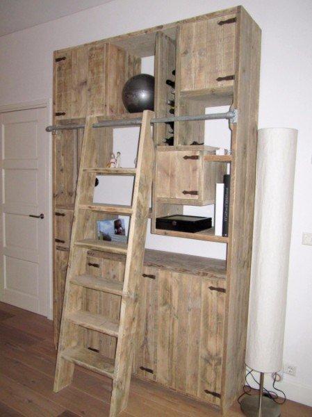 Steigerhouten kast kasten legkast opbergkast steigerhout for Meubels keukens bedden matrassen banken kasten ikea