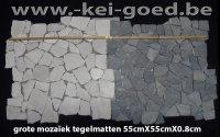 MozaÏek tegelmatten marmer groot formaat 55x55cm