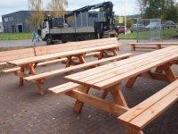 Duurzame douglas picknicktafel picknickbank
