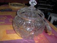 Kristallen Punch-bowl met glazen