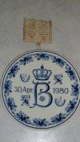 Wandbord 30 april 1980 Beatrix