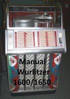 Manual boekwerk Wurlitzer 1600/1650