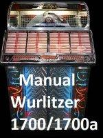 Manual boekwerk Wurlitzer 1700/1700a