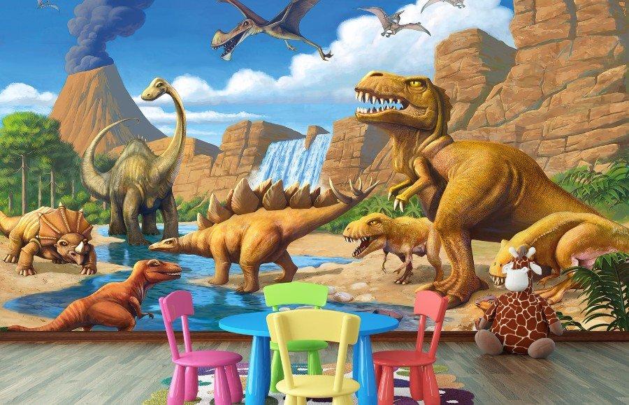 Dinosaurus Fotobehang Dinosaurus Behang L Muurdeco4kids