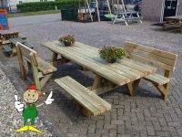 Picknicktafel terrastafel tuintafel picknickbank