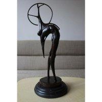 Abstract Brons Bronzen Beeld Boogschutter Futurisme