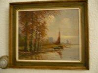 Aangeboden: JAN VAN VLAARDINGEN (( 1913-1980)) zoon van Derk ((1890-1958)) 3 generatie,s kunstschilders n.o.t.k.