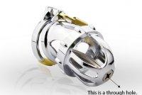 Metalen kuisheid apparaat met urethrale sound