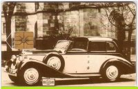 Oldtimer x 4 op telefoonkaart Carrosserie