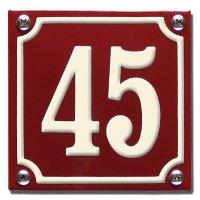 Aangeboden: Emaille huisnummer gebold dubbel € 33,50