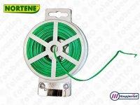 Binddraad plat geplastificeerd groen - (100