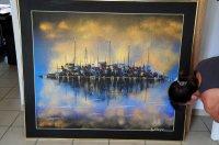 Schilderij eiland / stad