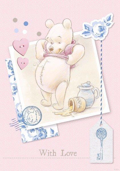 Campingbedje Winnie De Pooh.Winnie The Pooh Deurposter Vliesbehang Baby Behang Muurdeco4kids