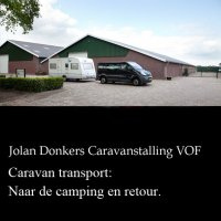 Professioneel caravantransport
