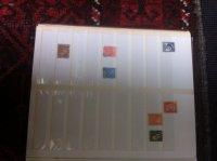 Oude  collectie postzegels