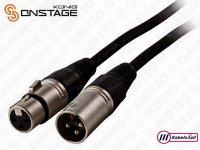XLR Mono Kabel 3-Pins Geschikt voor
