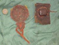 Moju, Gris-gris, medicine bag leren amulet-houders