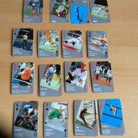Olympisch kaart- en kwartetspel. Uniek spel.